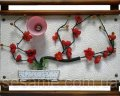 Настенный светильник картина, сакура, 450х350х100