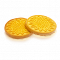 Sugar cookies with sunflower drawing, from the producer Saleks, Ukraine