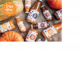 """Pumpkin juice with pulp and sugar, pasteurized """"Pumpkin smoothies""""."""