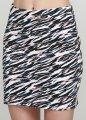 Женская приталенная короткая юбка C&A XS разноцветный WE-550353