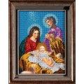 Вышивка бисером икон - Кроше - В-189 Икона Рождество Христово