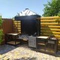 Мангальный комплекс со столиками и съемной жаровней GoodsMetall МК38