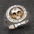 Мужское женское кольцо бижутерия череп каблучка унисекс череп