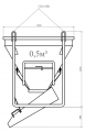 Бадья для бетона 0,5 м3; 0,75 м3