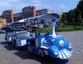 Паровоз на колесах или на рельсах для маленьких детей, а также для взрослых