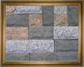 Плитка из природного камня габбро, гранит колотая, пиленная, термообработанная