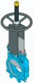 Шиберно-ножевая задвижка двунаправленная межфланцевого типа F