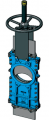 Шиберно-ножевая задвижка двунаправленная межфланцевого типа L