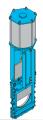 Шиберно-ножевая задвижка двунаправленная межфланцевого типа E