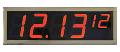 Часы светодиодные электронные GRAN-CLOCK-I100R7-S