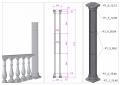 Колонна из декоративного бетона по технологии искусственного мрамора