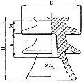 Изолятор штыревой фарфоровый 20 кВ - ШФ20-Д