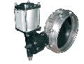 Дисковая заслонка с приводом - используется в дозаторе цемента как выгрузное устройство.
