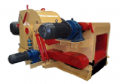 Wood grinder. Industrial equipment for production of spill under the order from China.