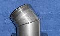 """Колено 45° позволяет менять направление дымохода на угол 45º. Устанавливается как на вертикальных, так и на горизонтальных «-» участках дымохода, соединяется с элементами системы без дополнительного крепления:""""труба в трубу"""""""