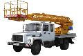 Автопідйомник телескопічний АП-18 на базі шасі ГАЗ-3307 для підйому на висоту до 18 м робітників з матеріалами й інструментом при виробництві ремонтних, будівельно-монтажних і інших видів робіт
