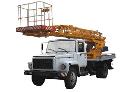 Автоподъёмник телескопический АП-18 на базе шасси ГАЗ-3309 для подъема на высоту до 18 м рабочих с материалами и инструментом при производстве ремонтных, строительно-монтажных и других видов работ