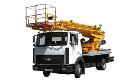Автоподъёмник телескопический АП-18 на базе шасси МАЗ-437041 для подъема на высоту до 18 м рабочих с материалами и инструментом при производстве ремонтных, строительно-монтажных и других видов работ