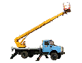 The car lift telescopic AP-22-01, type of the ZIL-433112 chassis for rise on height to 22 m of workers with materials and the tool by production of repair, construction and other types of works