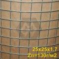 Galvanized welded mesh TM Kazachka 25x25x1.6 mm (zinc up to 130 g / m2)
