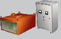 Железоотделители ЗНЕм электромагнитные подвесные без автоматической разгрузки типа  для извлечения случайных ферромагнитных предметов из сыпучих материалов, транспортируемых ленточными конвейерами.