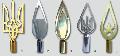 Наконечники могут изготавливаться с различными покрытиями (позолота,никелирование) и латунные с лаковым покрытием.