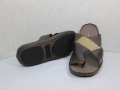 Bedroom-slippers 2126 Stylish and very comfortable bedroom-slippers from genuine leather of color of milk chocolate.