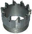 Коронки самозатачивающиеся микрорезцовые твердосплавные коронки типа СА5 с небольшой площадью поперечного сечения (1,8×1,8 мм), собранные в специальные пакеты на опорных пластинах, и установленные на режущей части коронок