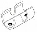 Центральне кріплення стрічки Затиск на 4 пелюстки