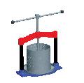 Пресс механический ПМ2М для выжимания соков из ягод, измельченных фруктов и овощей в домашних условиях.