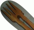 Кухонный двузубец из дерева