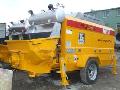 Deliveries of construction equipment. Concrete pumps are hook-on. The Mriya concrete pump - MBP1206D.