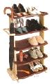 Полка для обуви ПРЕСТИЖ 5-ти коричневая 1/6 AY-120.