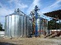 Grain silos on concrete base