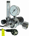 The regulator of pressure (expense) carbon dioxide U-30P (220B) balloon Modern Welding with a heater of the case and the rotameter