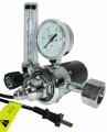 The regulator of pressure (expense) carbon dioxide U-30P (36V) balloon with a heater of the case and the Modern Welding rotameter