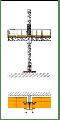 Электрическая платформа  P 506 Monocolonna