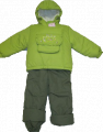 Зимний костюм для девочки из плащевки с овчиной. Модель 404