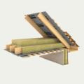 Утеплитель кровельный Роклайт 30 кг/м3, 50 мм,  утепление скатных крыш, мансард, перегородок