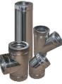 Дымоход двустенный из нержавеющей стали 0,8 мм d=100/160 мм в оцинкованном кожухе