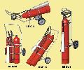 Fire extinguishers mobile carbon dioxide VVK-18, VVK-28, VVK-36, VVK-56