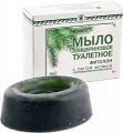 Toilet glycerin soap with paste of coniferous hlorofillo-carotene