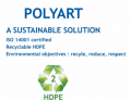 Synthetic Polyart paper ® (90 g/m2) in rolls.