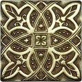 Декоративная вставка из латуни Zodiac (7,5x7,5), арт. 1