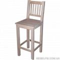 Экологически чистый стул Аккорд барный из массива дуба