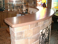 Tables, table-tops, bar counters from a natural stone