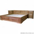 Двуспальная кровать Breda С сделана из экологически чистого и натурального дерева дуб  цена