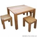 Комплект мебели из дуба Grand  состоит из четырех табуретов и одного стола. Предназначен для кухни, столовой, дачи