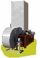 Теплогенератор ТГ-200 стандартний потужністю 200 кВт , із транспортним вентилятором ОЦ 4-75 8, димососом і циклоном для очищення димових газів, утилізації деревних відходів і опалення виробничих приміщень обсягом до 12,0 тис. м.куб