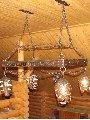 Кованые люстры, торшеры, бра, свет в интерьере, наружное освещение.